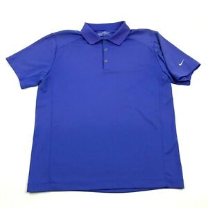 NIKE GOLF Tour Performance Polo Dry Fit Shirt Size M Medium Blue Collared Mens $9.39