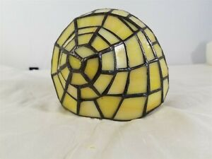 Victorian Trading Co Replacement Shell Yellow Stained Glass Snail Lamp 38B