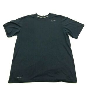 NIKE Dry Fit Shirt Men#x27;s Size L Large Blue DRI FIT Gym Tee Vented Lightweight $13.14