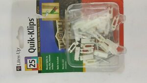 25 PACK LOT QUICK CLIPS FOR HANGING CHRISTMAS LIGHTS NAILS INCLUDED
