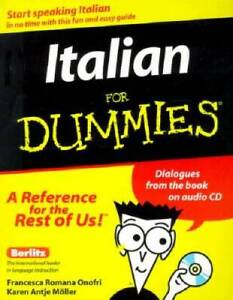 Italian for Dummies With Audio CD Paperback VERY GOOD