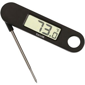 Taylor Kitchen Thermometer Folding Probe and Digital Readout F and C US Seller