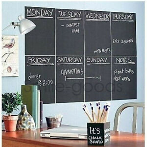 4x Chalkboard Blackboard Wall Sticker Removable Kids Study Room Decor Decals USA