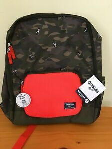 New Oshkosh Skip Hop Backpack Astronaut Camo Kid Boy Green Brown Orange