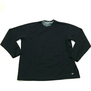 NordicTrack Dry Fit Shirt Size XL Extra Large Runners Tee Black Long Sleeve Tee $13.14