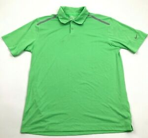 NIKE GOLF Tour Performance Polo Dry Fit Shirt Size M Medium Lime Green Collared $18.77