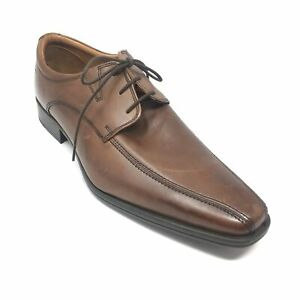 Mens NEW Clarks Oxfords Dress Shoes Size 10 UK 10.5 M US Brown Leather AE15 $39.79