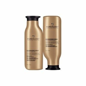 Pureology Nano Works GOLD Shampoo and Conditioner Duo Set NEW 9 OZ BOTTLE $45.51