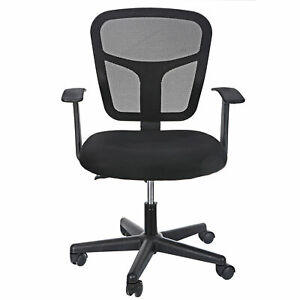 Ergonomic Mesh Office Chair Midback Adjustable Swivel Computer Desk Task Black $30.99