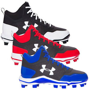 New Mens Under Armour Heater Mid TPU Baseball Cleats Shoes Choose Size $31.99