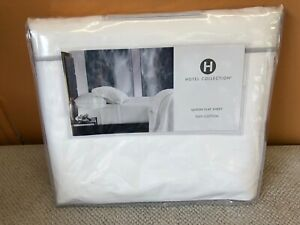 Hotel Collection Queen Flat Sheet 100% Supima Cotton Percale.