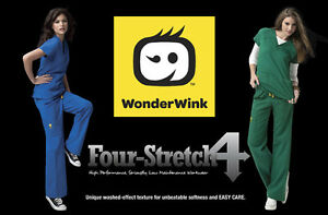 WonderWink Four-Stretch Scrub Set Top 6214 & Pant 5214 ALL Colors & Sizes