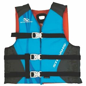 STEARNS Antimicrobial Nylon Youth Vest Blue