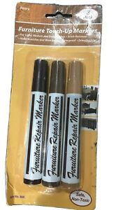 Wood Furniture Touch Up Markers Wood Stain Scratch Repair Non Toxic 3 Shades