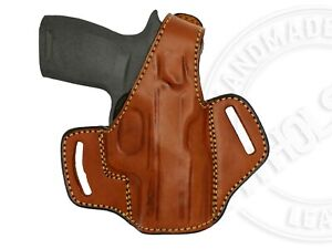 OWB Thumb Break Right Hand Leather Belt Holster Fits Sig Sauer P320 Compact 9mm $36.16