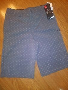 Under Armour Boys Golf Shorts Gray Pattern Size YLG Youth Large NWT. Adjustable $24.99