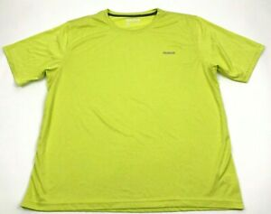 NEW Reebok Dry Fit Shirt Size Extra Large Mens Lime Greene Gym Tee Short Sleeve $11.26