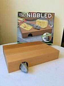 FRED Nibbled Cheese Cutting Board & Mouse Knife Set Barware Party
