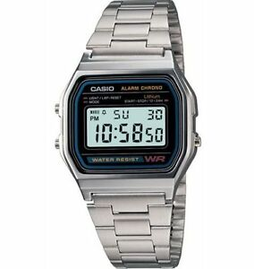 Casio A158WA 1 7 Year Battery Classic Chronograph Watch Alarm Date