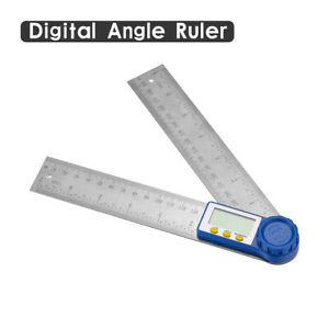 8quot; Electronic Digital Angle Finder Protractor Ruler Stainless LCD With batteries $11.99
