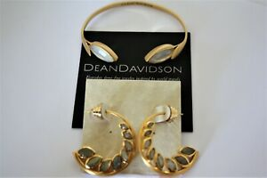 Dean Davidson 22K Gold Plated and hoop earrings NWT