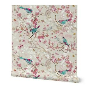 Wallpaper Roll Chinoiserie Floral Botanical Traditional Neutral 24in x 27ft