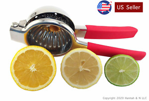 Lemon & Lime Squeezer – Stainless Steel Manual Juicer – Citrus Press – Large Bow