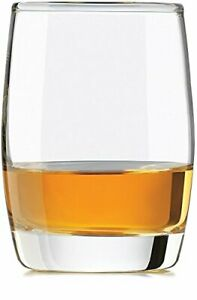 Circleware Heavy Base Scotch Whiskey Glass Drinking Glasses, Set of 4, Entertain