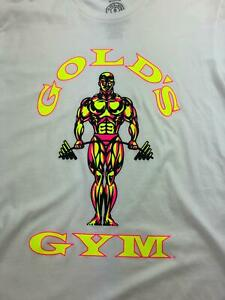 Golds Gym T Shirt Mens Medium White Weightlifting Bodybuilder Slim NWOT B65 09 $14.35