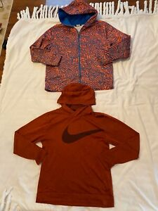 Boys Size Xl Under Armour Nike Hoodie Lot Zip Pillovet Thin Fleece Lined $24.99