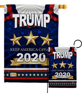 Keep America Great Trump Garden Flag 2020 President Gift House Yard Banner