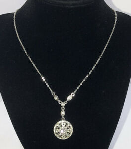 NWOT Givenchy Silver tone crystal necklace $21.99