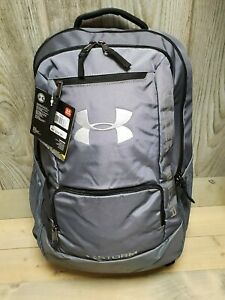 Under Armour Team Hustle Storm Backpack Gray 1272782 040 Water Resist New w tag $27.50
