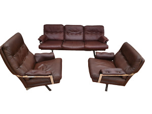 Original Swedish design 70s Arne Norell sofa set original upholstery