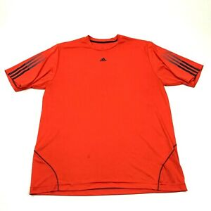 Adidas Dry Fit Shirt Mens Size Extra Large XL Blaze Orange Workout Leisure Tee $24.77