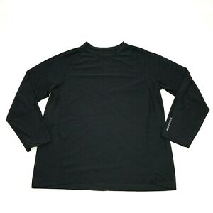 Russell Dry Fit Shirt Men#x27;s Size 2XL 50 52 Black Loose Fit Tee Dri Power Gym Top $18.77