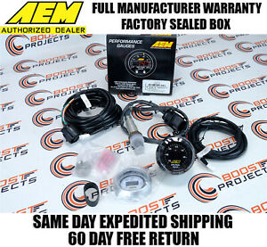 AEM 30 4110 UEGO Wideband O2 Air Fuel Ratio Gauge AFR 52mm with 4.9 LSU Sensor