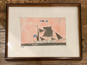 EARLY LYONEL FEININGER EXPRESSIONIST LITHOGRAPH