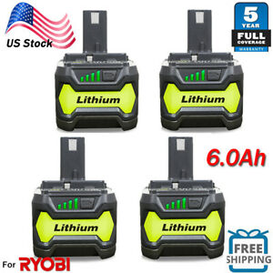 6.0Ah For RYOBI P108 18V One+ Plus High Capacity Battery Lithium-Ion P104 P102