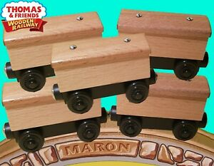 SET OF 5 THOMAS amp; FRIENDS WOODEN RAILWAY CREATE YOUR OWN BOX CARS CARS $21.61