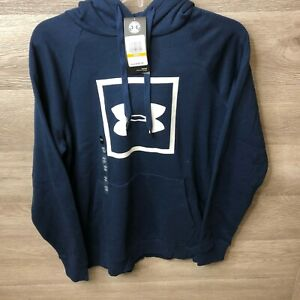 Under Armour Mens Small Rival Fleece Logo Hoodie NEW $27.99