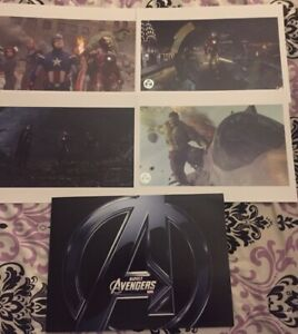 2012 Disney Store Exclusive Commemorative Lithograph Set of 4- Avengers