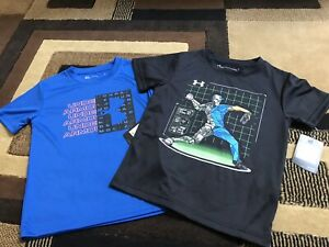 NWT Litte Boys Under Armour Shirts 2 Shirts Size 4 $23.99