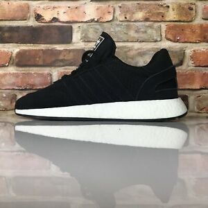 Adidas I-5923  Mens Leather Iniki Shoes Originals Black White Sneakers Size 10.5