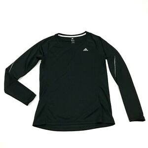 Adidas Climalite Dry Fit Shirt Size Medium Black Long Sleeve Running Tee Runner $20.14
