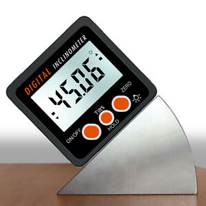 0 360° Level Box Gauge Digital LCD Protractor Magnetic Angle Finder Inclinometer $16.99