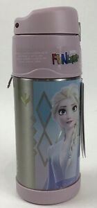 NWT FROZEN Disney Thermos Funtainer 12 OZ Pink Insulated Drink Bottle Flip Top