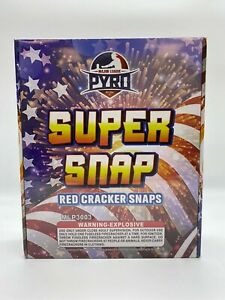 600 Super Snap Red Cracker Snaps - Adult Snaps
