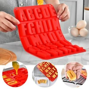 US Silicone Letter Alphabet Pudding Bakeware Mould Cake