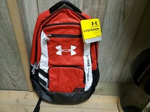 Under Armour Storm Water Resistant Backpack Red 1238440 600 Brand New with Tags $25.00